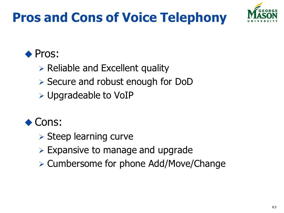 Pros and Cons of Voice Telephony