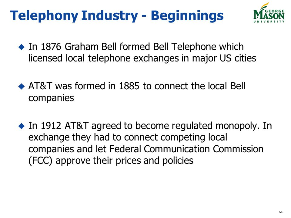 Telephony Industry - Beginnings