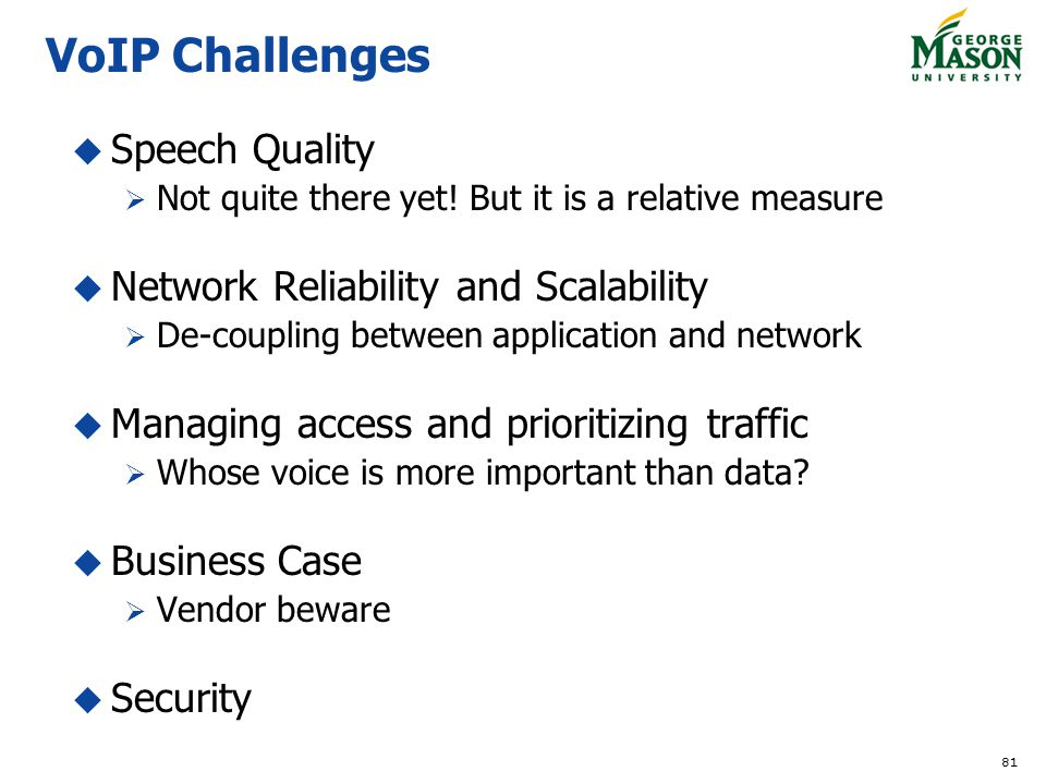 VoIP Challenges Speech Quality Network Reliability and Scalability