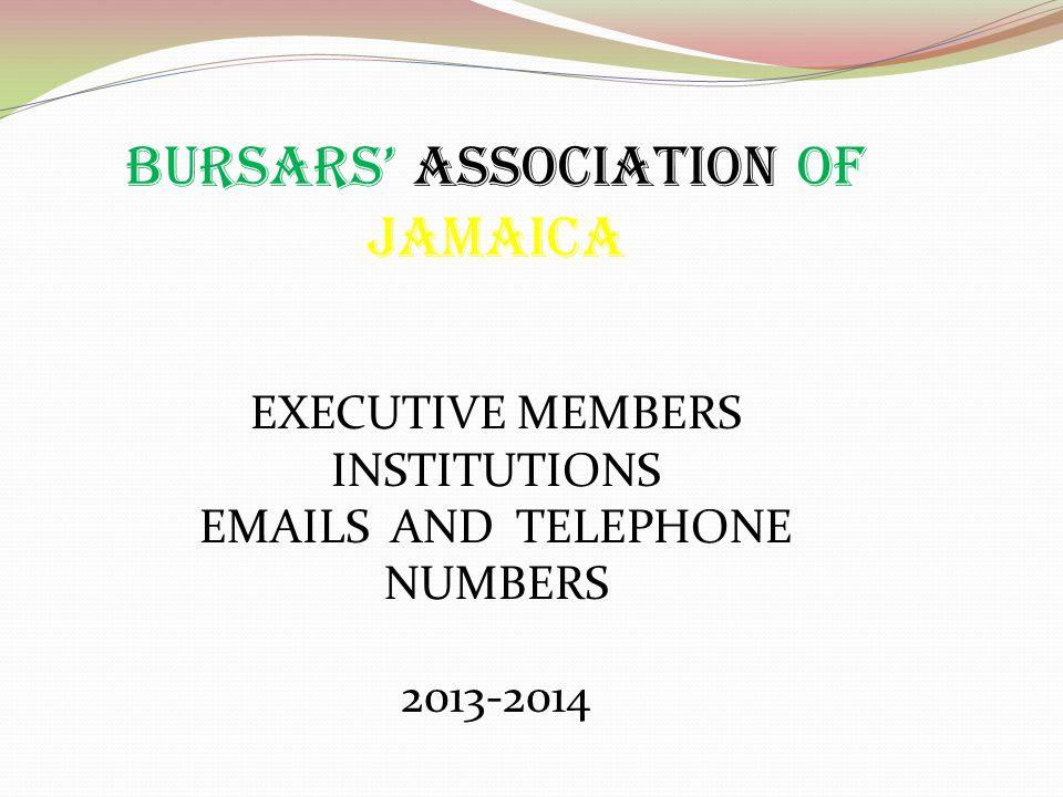 BURSARS' ASSOCIATION OF JAMAICA
