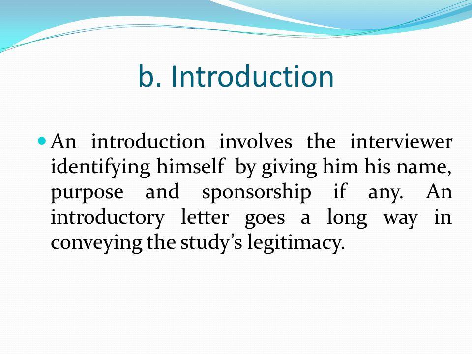 b. Introduction