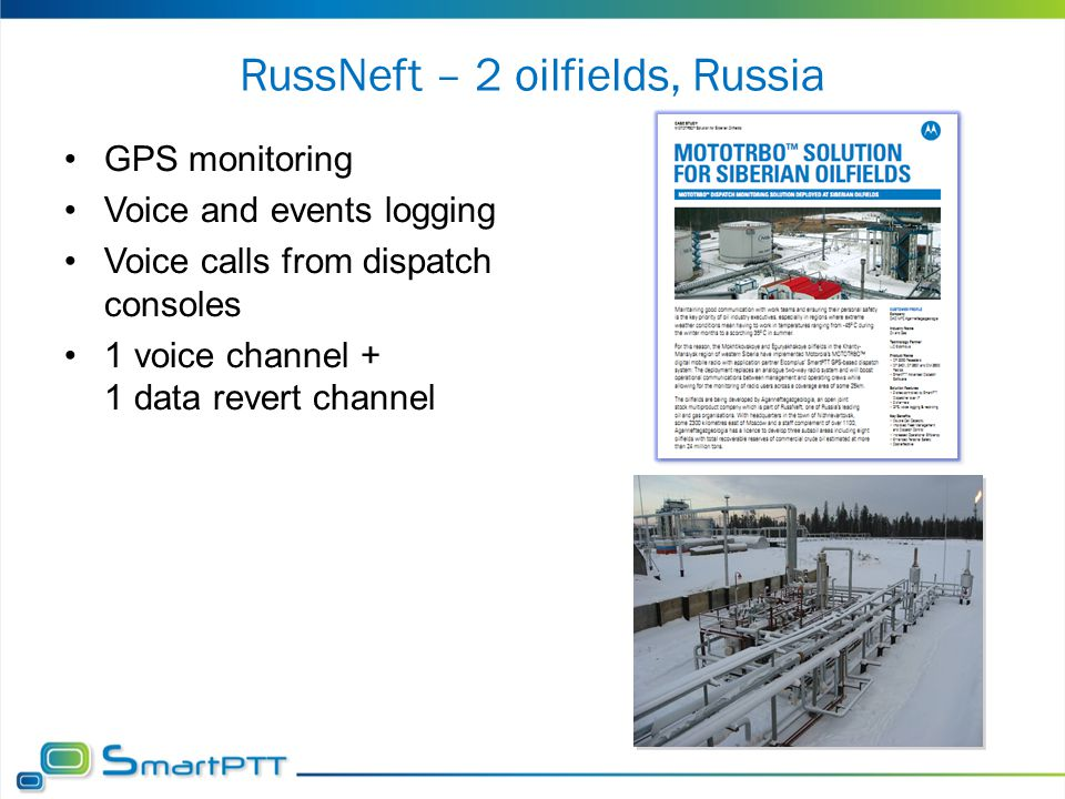 RussNeft – 2 oilfields, Russia