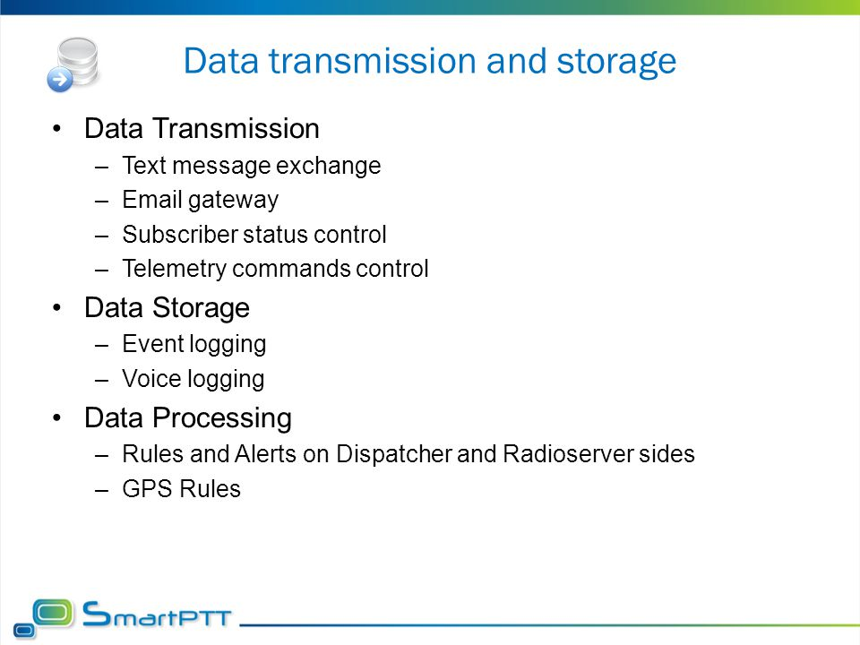 Data transmission and storage