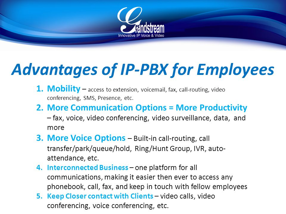 Advantages of IP-PBX for Employees