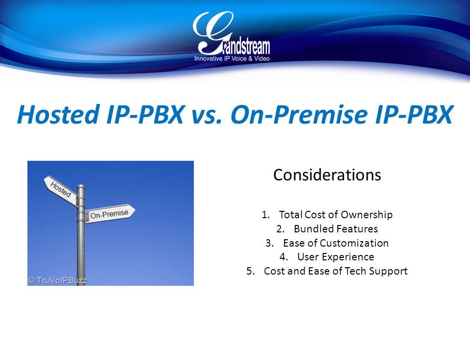 Hosted IP-PBX vs. On-Premise IP-PBX