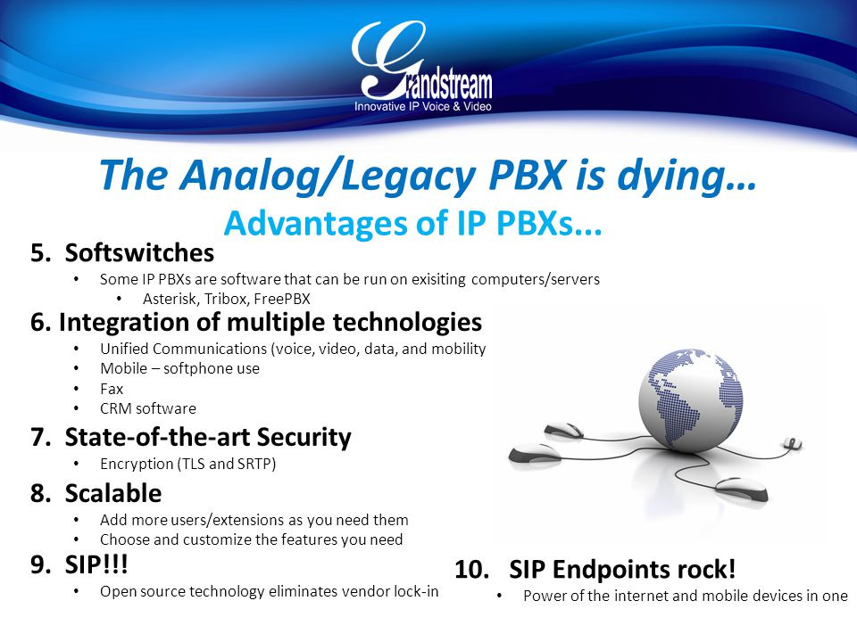 The Analog/Legacy PBX is dying…