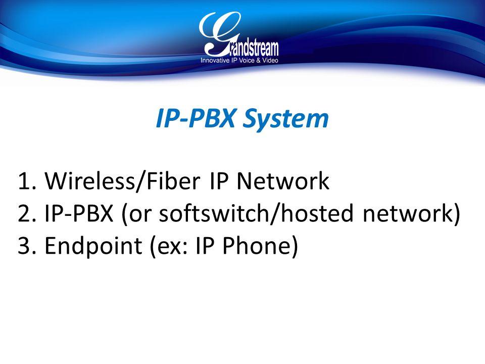 IP-PBX System Wireless/Fiber IP Network