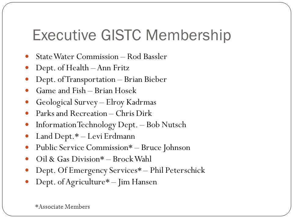 Executive GISTC Membership