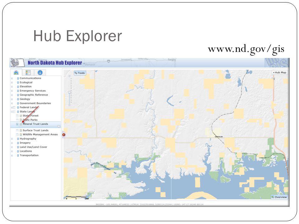 Hub Explorer www.nd.gov/gis