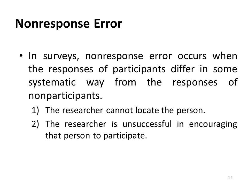 Response-Based Errors(1/2)