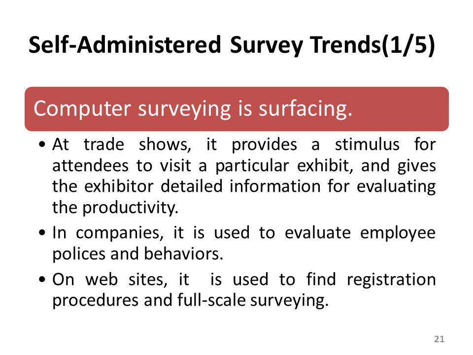 Self-Administered Survey Trends(2/5)