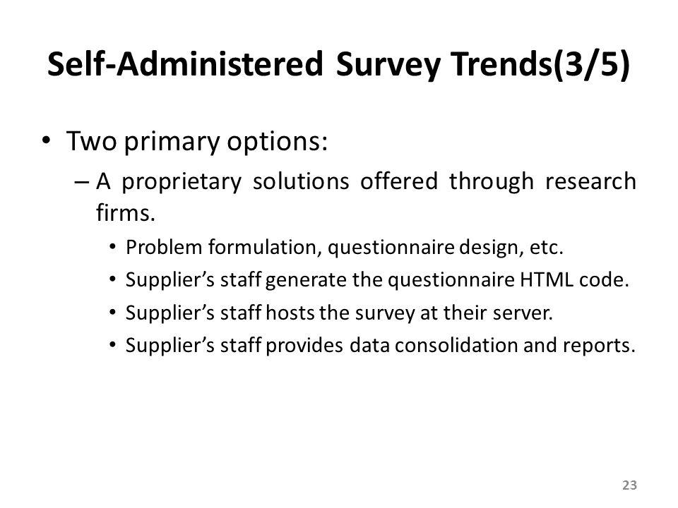Self-Administered Survey Trends(4/5)