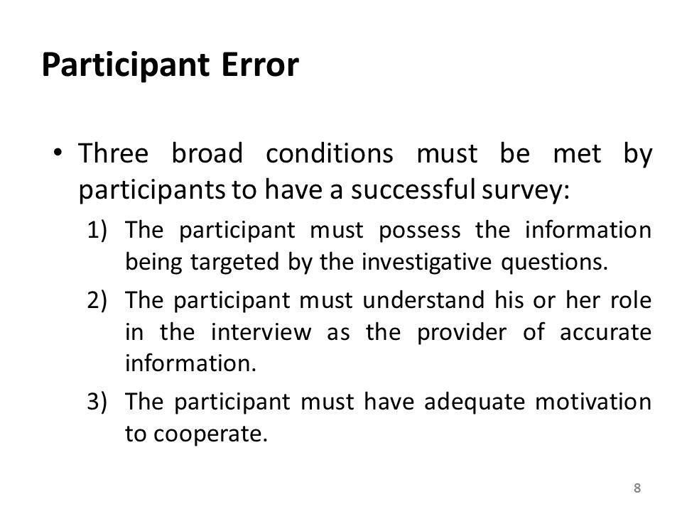 Participation-Based Errors