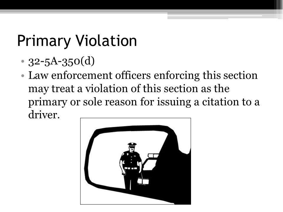 Primary Violation 32-5A-350(d)