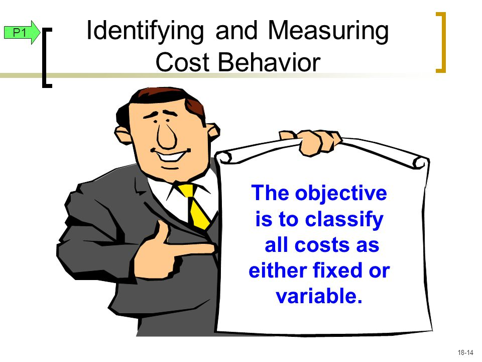 Identifying and Measuring Cost Behavior