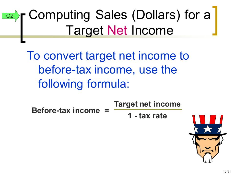 Computing Sales (Dollars) for a Target Net Income