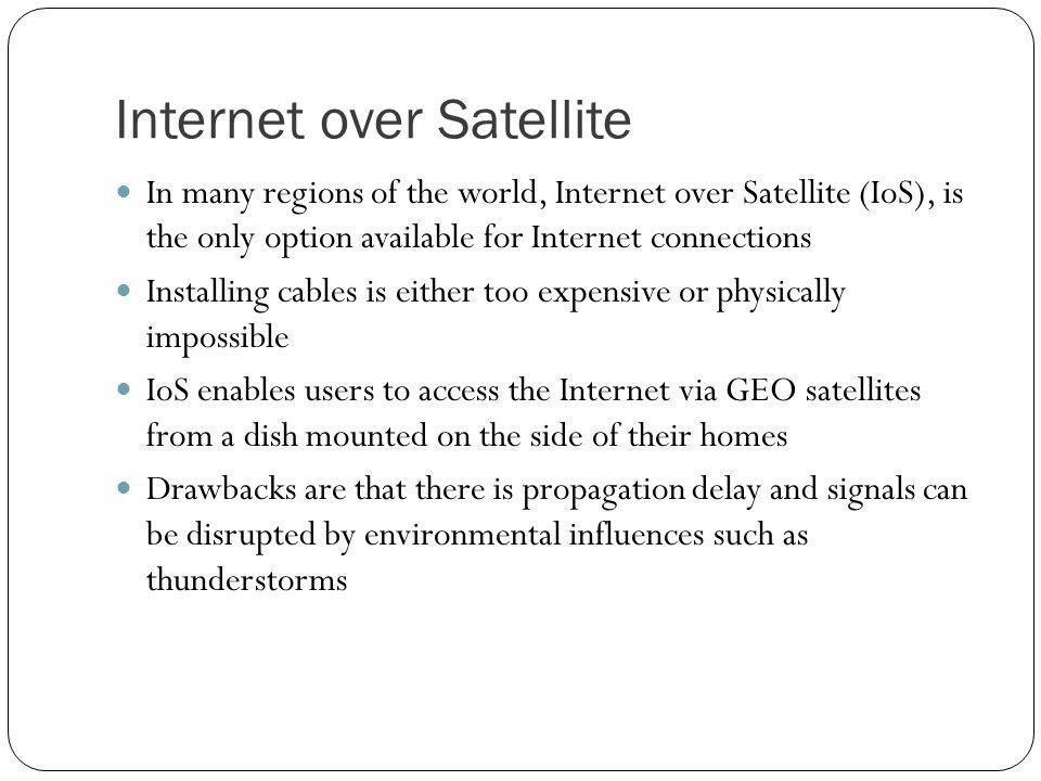 Internet over Satellite