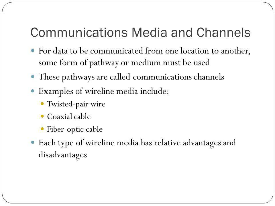 Communications Media and Channels