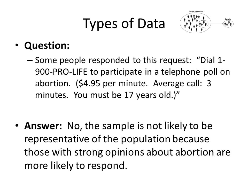 Types of Data Question: