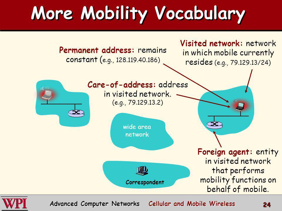 More Mobility Vocabulary