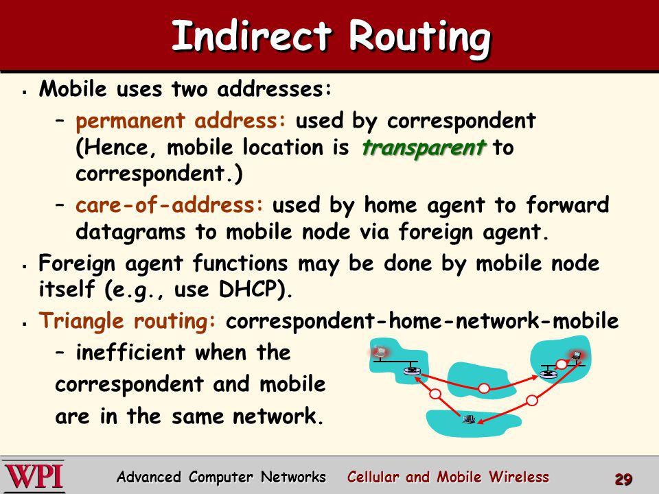 Advanced Computer Networks Cellular and Mobile Wireless