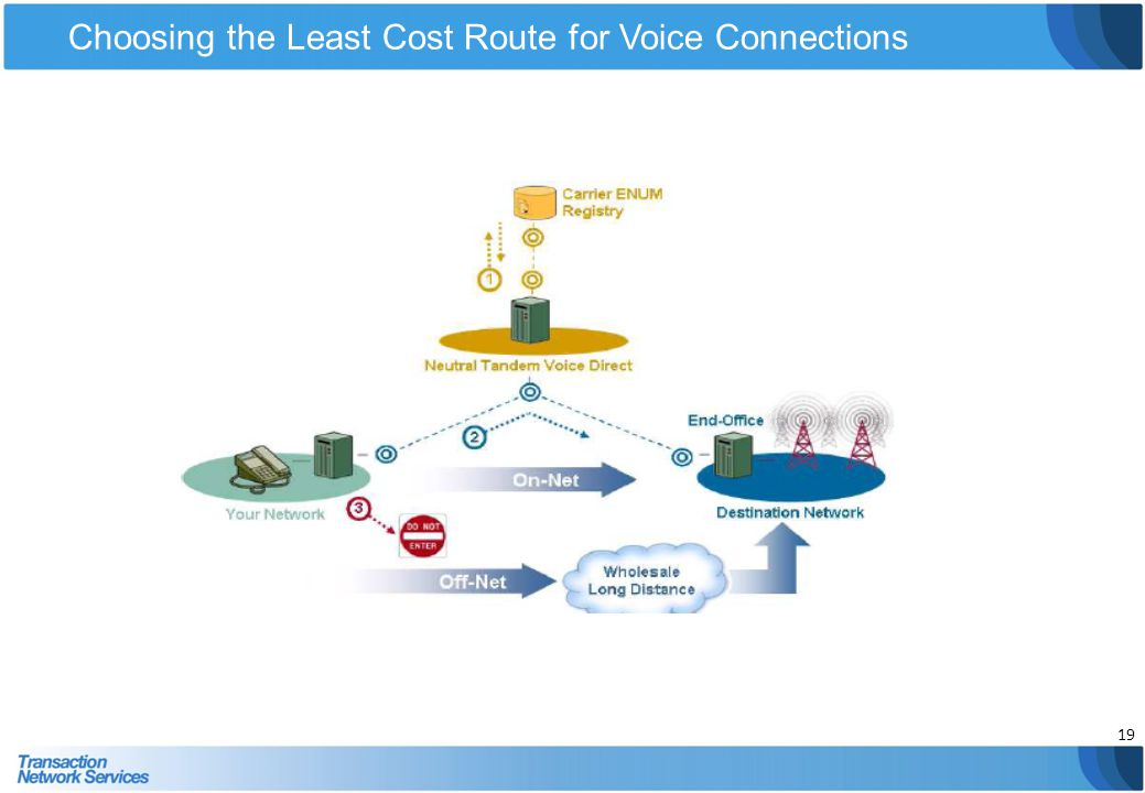 Choosing the Least Cost Route for Voice Connections