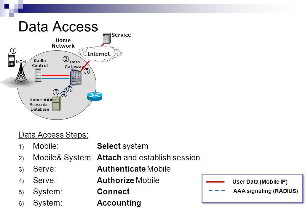 Data Access       Data Access Steps: Mobile: Select system