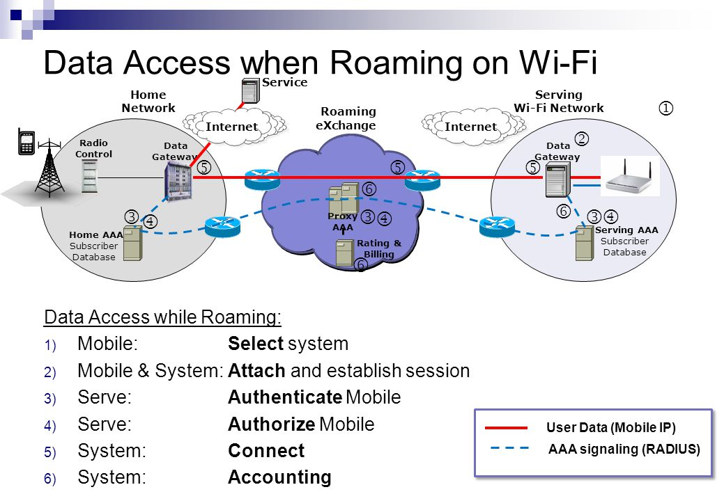 Data Access when Roaming on Wi-Fi