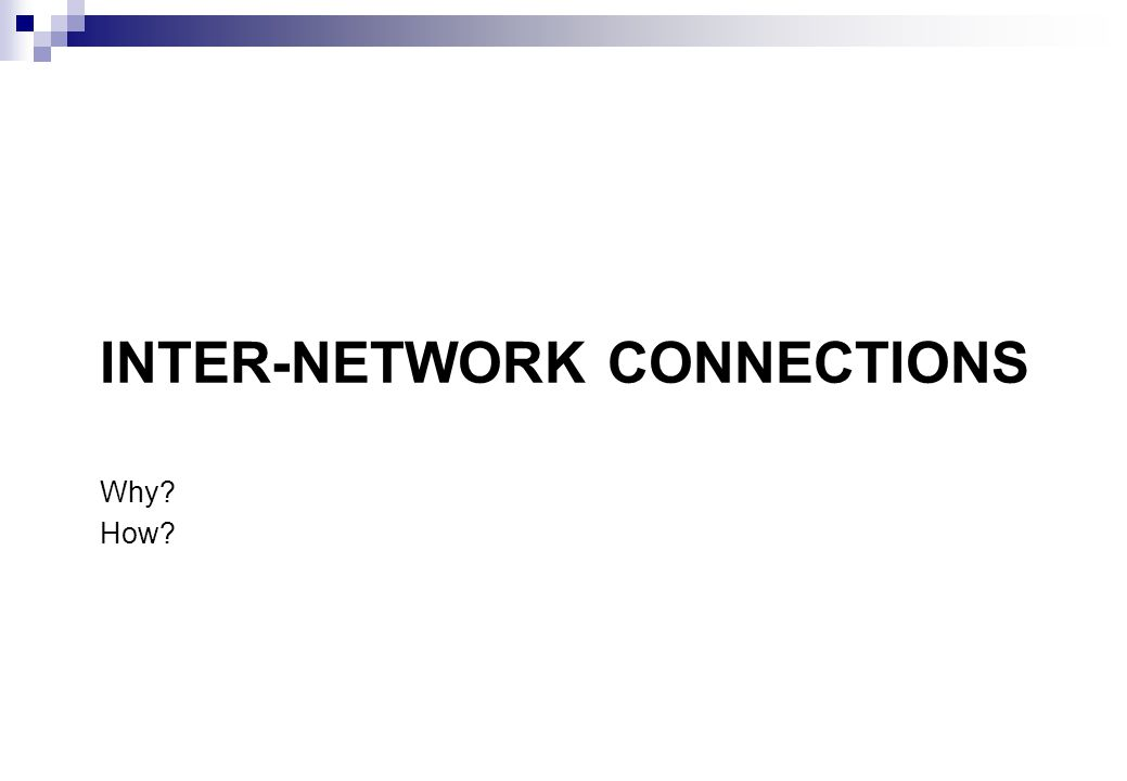 Inter-Network Connections