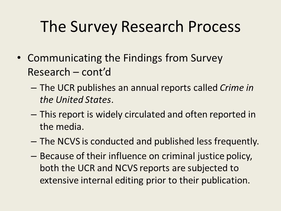 The Survey Research Process