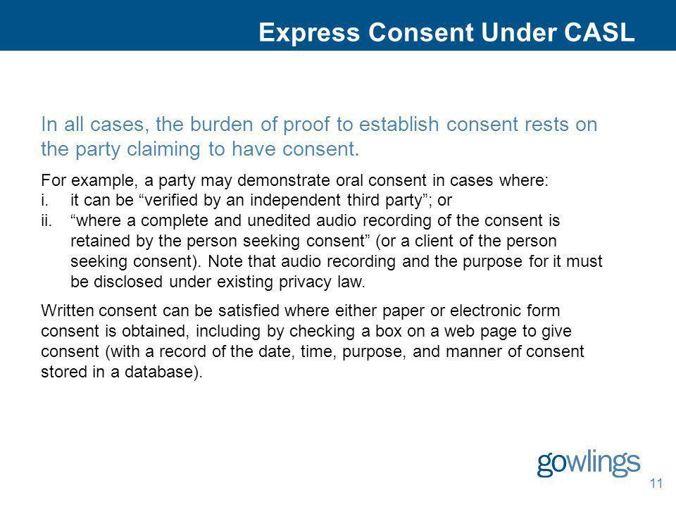 Express Consent Under CASL