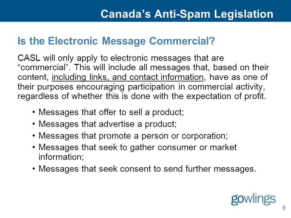 Canada's Anti-Spam Legislation