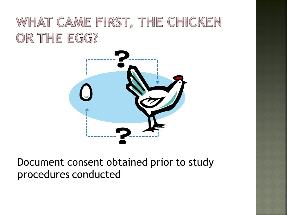 What came first, The chicken or the Egg