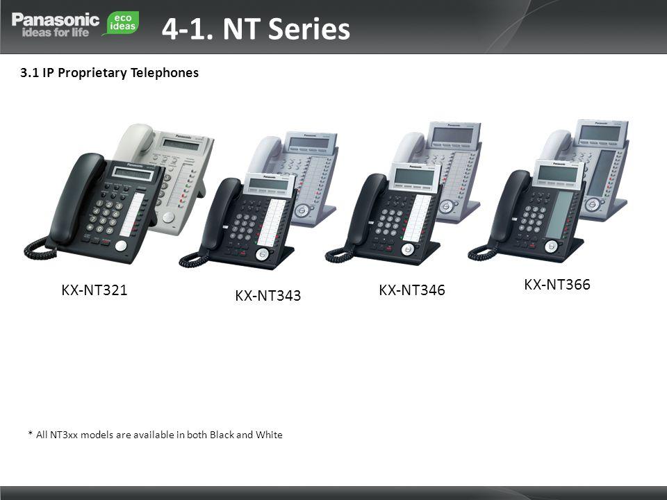 4-1. NT Series KX-NT366 KX-NT321 KX-NT346 KX-NT343