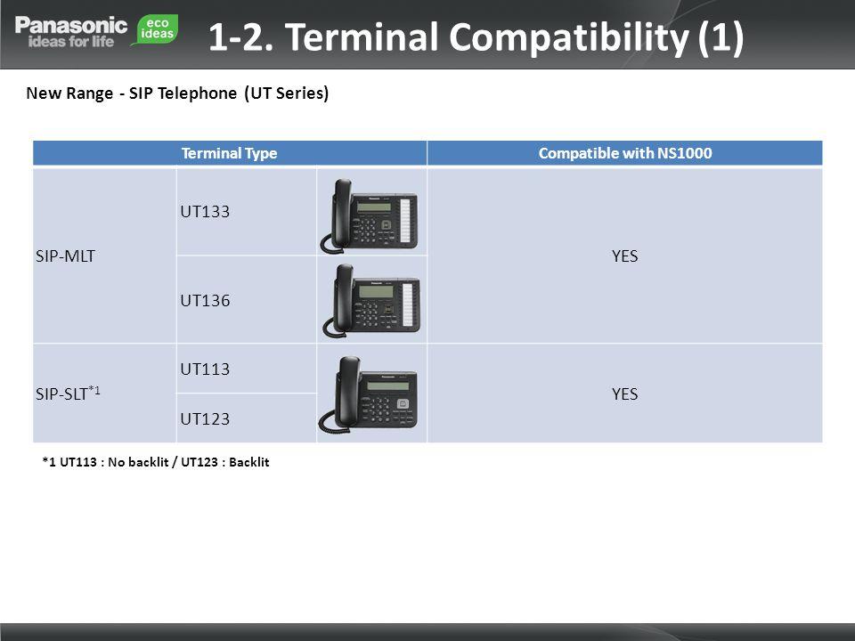 1-2. Terminal Compatibility (1)