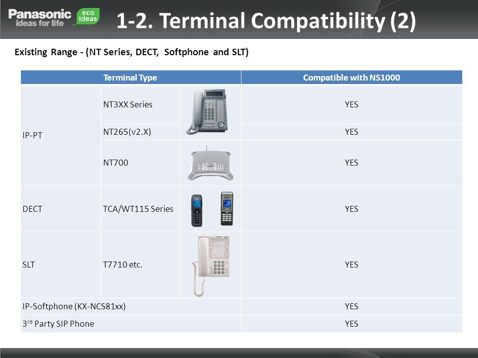 1-2. Terminal Compatibility (2)