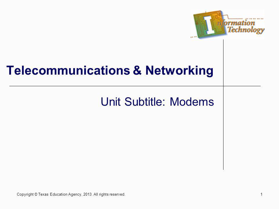 Telecommunications & Networking