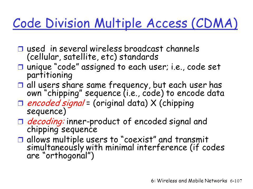 Code Division Multiple Access (CDMA)