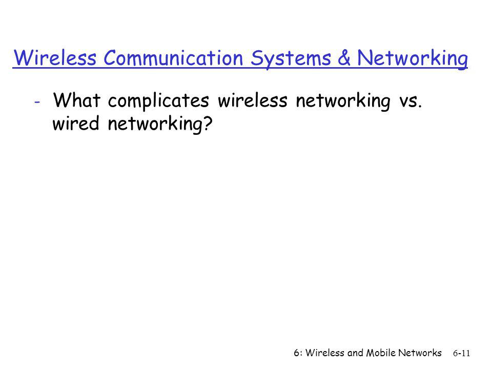 Wireless Communication Systems & Networking