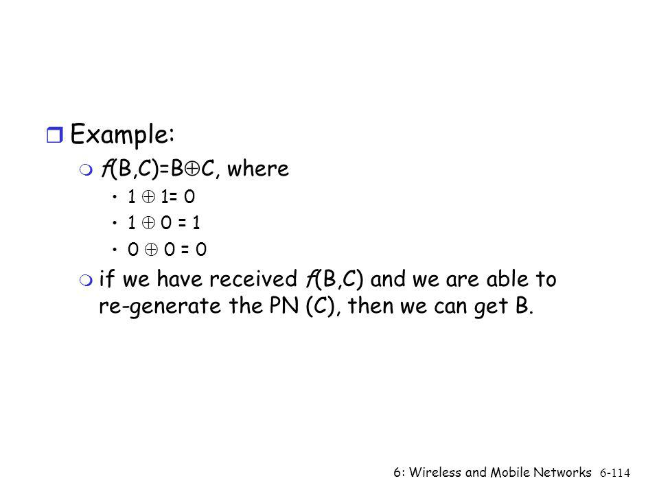 Example: f(B,C)=BC, where
