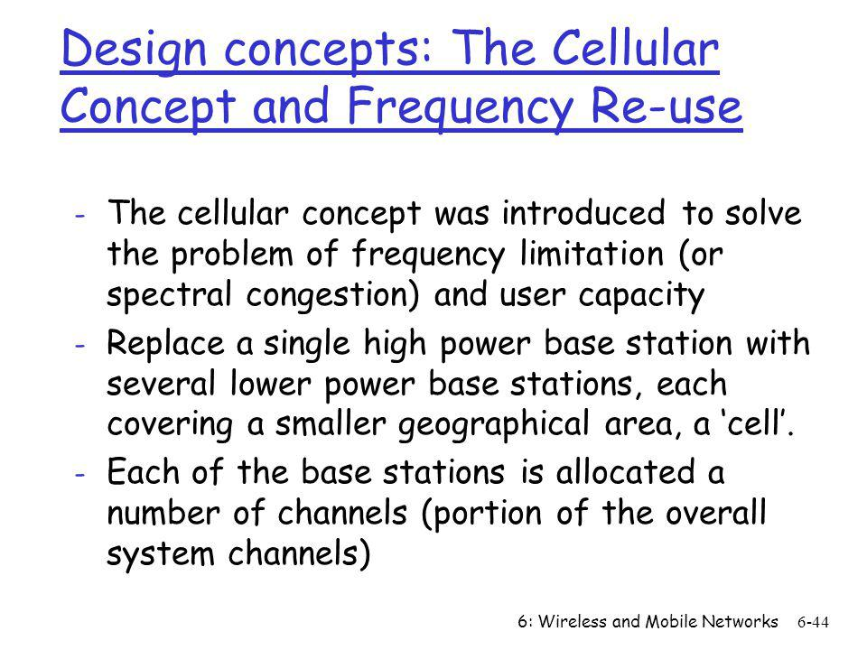 Design concepts: The Cellular Concept and Frequency Re-use