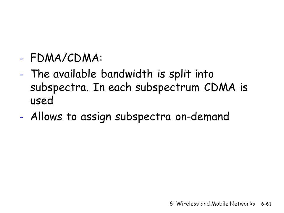 Allows to assign subspectra on-demand