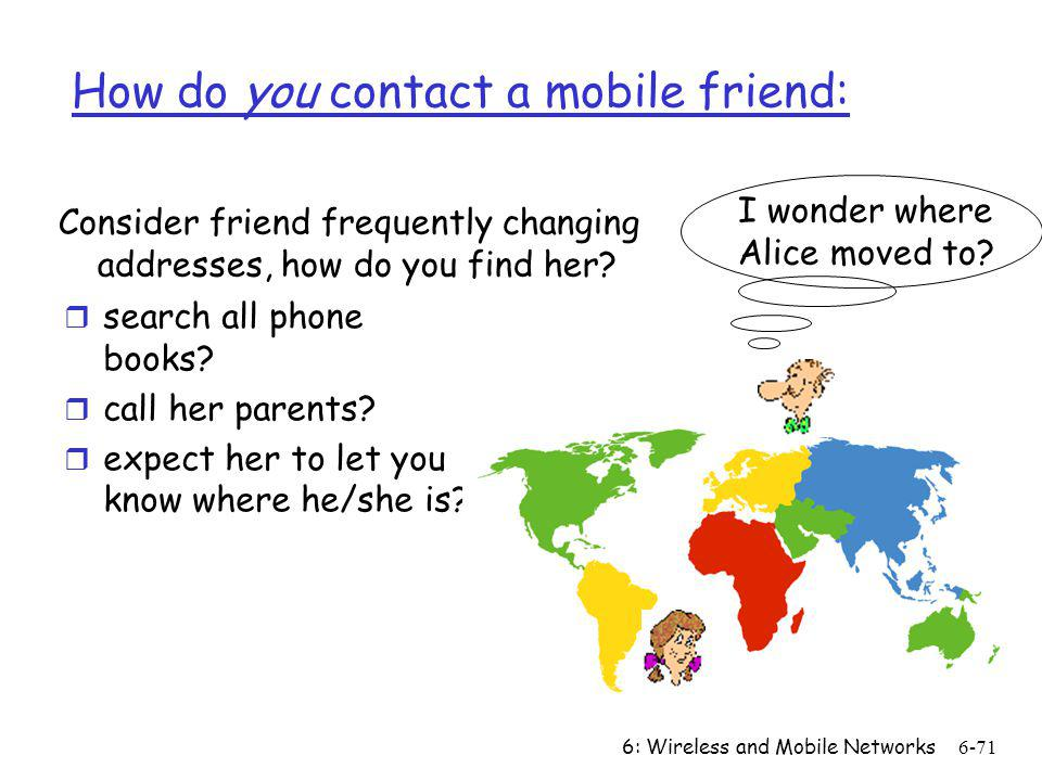 How do you contact a mobile friend: