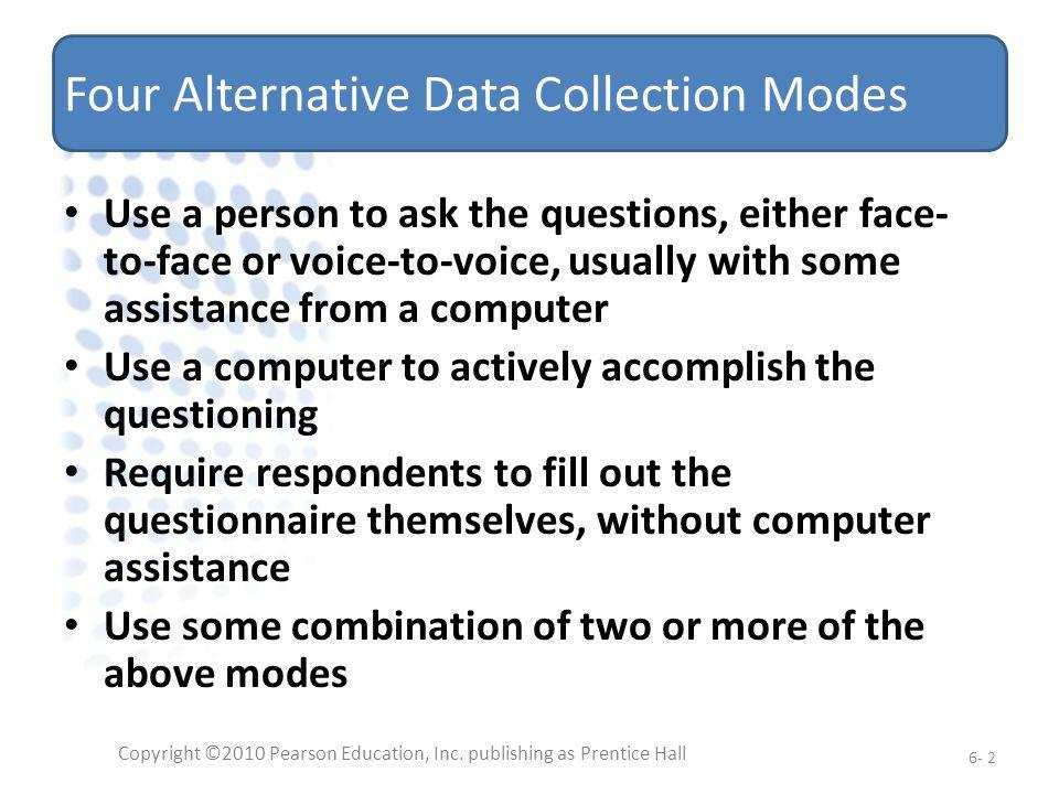 Four Alternative Data Collection Modes