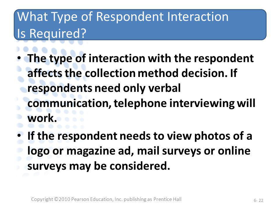 What Type of Respondent Interaction Is Required