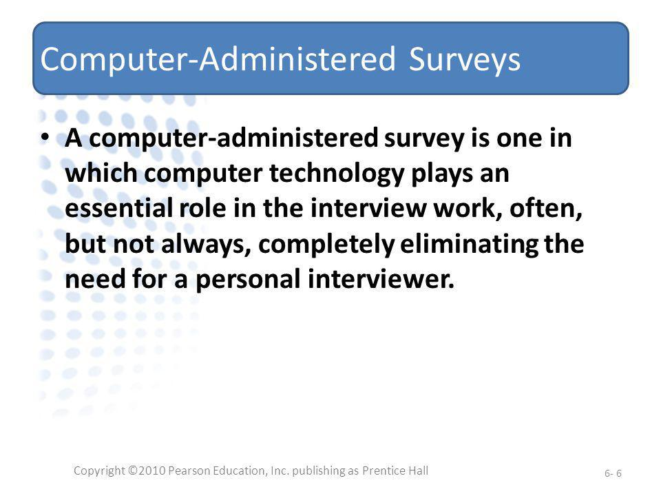 Computer-Administered Surveys