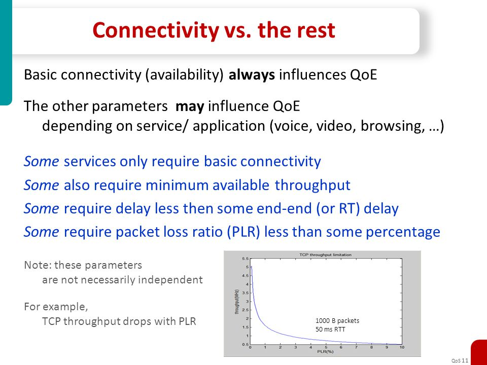 Connectivity vs. the rest