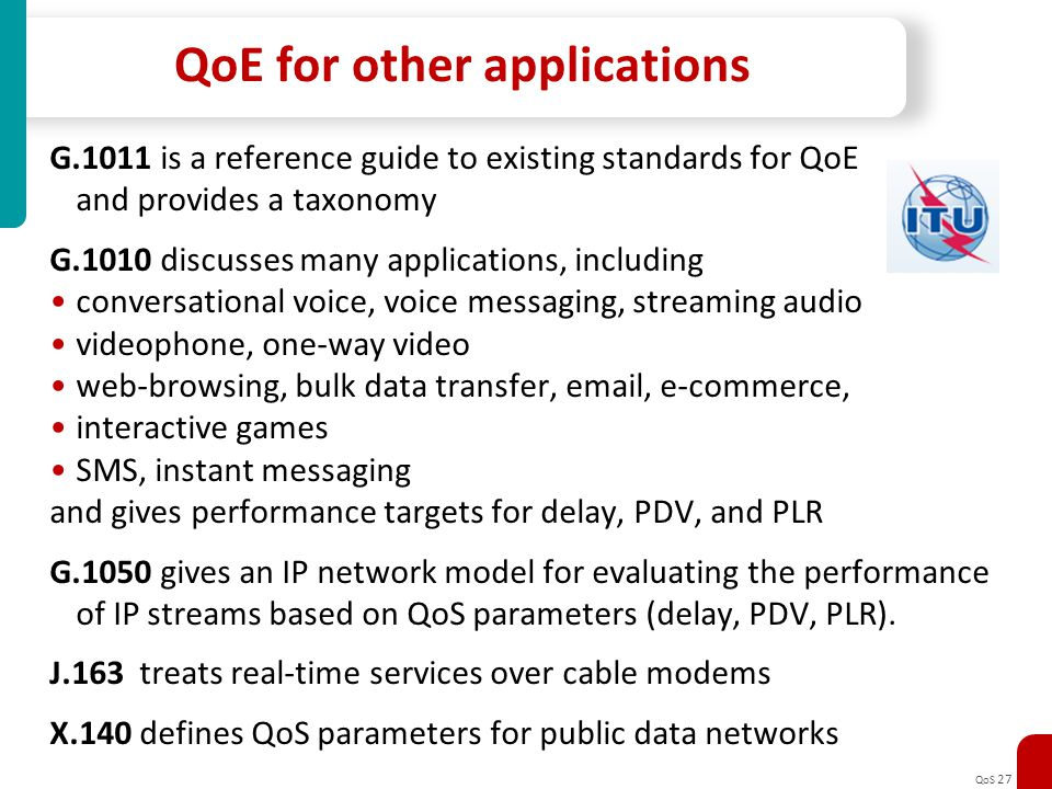 QoE for other applications