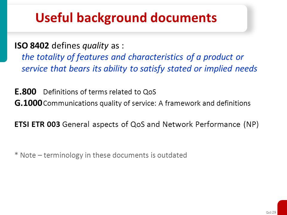 Useful background documents
