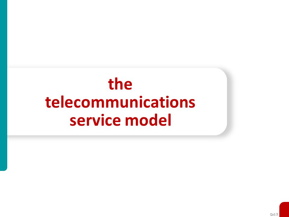 the telecommunications service model
